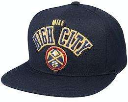 Denver Nuggets ZZ Black Snapback - Mitchell & Ness