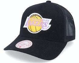 Los Angeles Lakers Winter Black Trucker - Mitchell & Ness