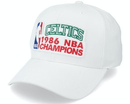 Boston Celtics NBA Champions Pro Crown White Adjustable - Mitchell & Ness