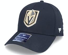 Vegas Golden Knights Core Flex Cap Black Flexfit - Fanatics