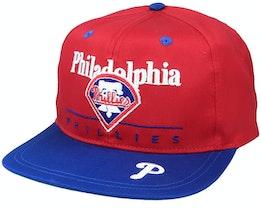 Philadelphia Phillies Classic MLB Vintage Red/Blue Snapback - Twins Enterprise