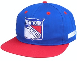 New York Rangers Base Two Tone NHL Vintage Blue/Red Snapback - Twins Enterprise