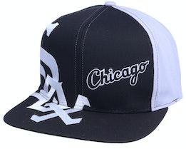 Chicago White Sox Big Text MLB Vintage Black/Grey Snapback - Twins Enterprise