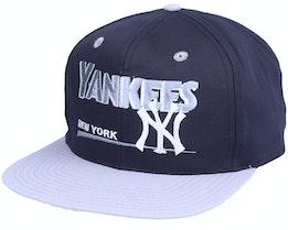 New York Yankees Classic MLB Vintage Black/Grey Snapback - Twins Enterprise