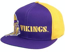 Minnesota Vikings Big Logo NFL Vintage Purple/Yellow Snapback - Twins Enterprise