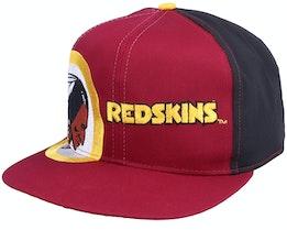 Washington Football Team Washington Redskins Big Logo NFL Vintage Red Snapback - Twins Enterprise