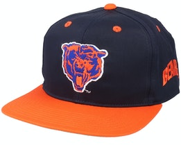 Chicago Bears Base Two Tone NFL Vintage Black/Orange Snapback - Twins Enterprise