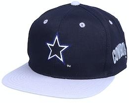 Dallas Cowboys  Base Two Tone NFL Vintage Navy/Grey Snapback - Twins Enterprise