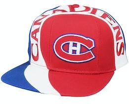 Montreal Canadiens Vortex NHL Vintage Red/Blue Snapback - Twins Enterprise