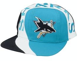 San Jose Sharks Vortex NHL Vintage Teal/Black Snapback - Twins Enterprise
