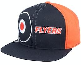 Philadelphia Flyers Big Logo NHL Vintage Black/Orange Snapback - Twins Enterprise