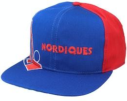 Quebec Nordiques Big Logo NHL Vintage Blue/Red Snapback - Twins Enterprise