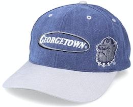 Georgetown Hoyas Multi Logo Vintage Denim/Grey Dad Cap - Twins Enterprise