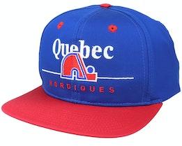 Quebec Nordiques Classic NHL Vintage Blue/Red Snapback - Twins Enterprise