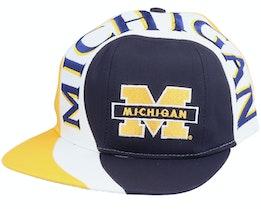 Michigan Wolverines Michigan Wolverines Vortex College Vintage Navy/Yellow Snapback - Twins Enterprise