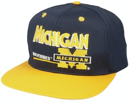 Michigan Wolverines Michigan Wolverines Classic College Vintage Black/Yellow Snapback - Twins Enterprise