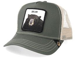 Drew Bear Olive/Beige Trucker - Goorin Bros.
