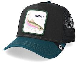 Rainbow Trout Black/Petrol Trucker - Goorin Bros.