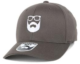 Logo Dark Grey Flexfit - Bearded Man