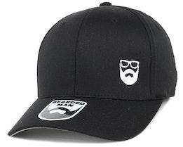 Side Logo Black Flexfit - Bearded Man