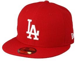 LA Dodgers MLB 59fifty Scarlet - New Era