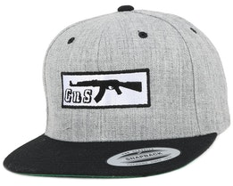 Box-AK47 Grey/Black Snapback - GUNS n SKULLS