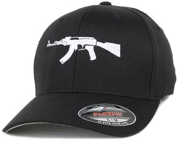 AK47 Black Flexfit - GUNS n SKULLS