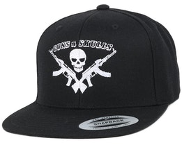 Logo Black Snapback - GUNS n SKULLS