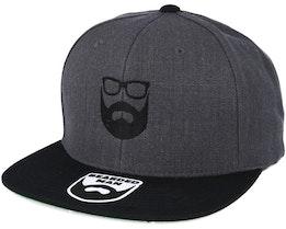 Logo Charcoal/Black Snapback - Bearded Man