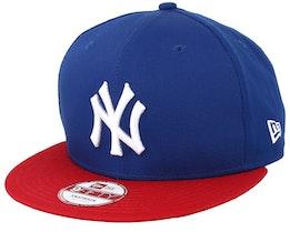 NY Yankees MLB Cotton Block Royal/Scarlet 9fifty - New Era