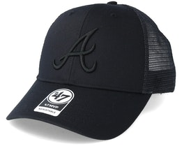 Atlanta Braves Branson Black Trucker - 47 Brand