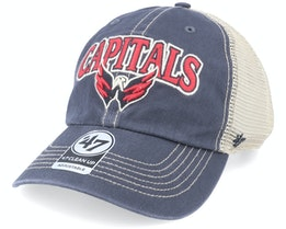 Washington Capitals Tuscaloosa Clean Up Dad Cap Vintage Navy/Beige Trucker - 47 Brand