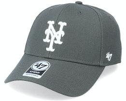 New York Mets Mvp Charcoal/White Adjustable - 47 Brand