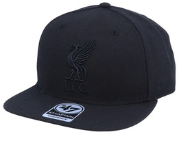 Liverpool Exclusive Metallic Black/Black Snapback - 47 Brand