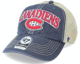Montreal Canadiens Tuscaloosa Clean Up Dad Cap Vintage Navy/Beige Trucker - 47 Brand