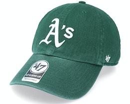 Oakland Athletics Clean Up Dark Green Dad Cap - 47 Brand