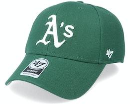 Oakland Athletics Mvp Dark Green/White Adjustable - 47 Brand