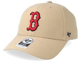 Boston Red Sox 47 Mvp Wool Khaki/Red Adjustable - 47 Brand