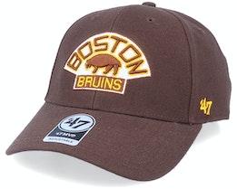Boston Bruins Mvp Vintage Brown Adjustable - 47 Brand