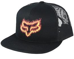 Flame Head Black/Orange Trucker - Fox