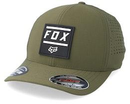 Listless Olive Green/Black Flexfit - Fox