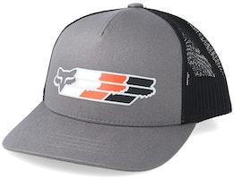 Kids Super Head Mesh Grey/Black Trucker - Fox