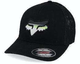 Head Strike Black/Black Mesh Flexfit - Fox