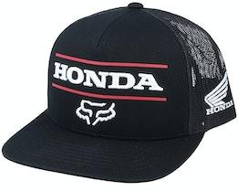 Honda Snapback Black Trucker - Fox