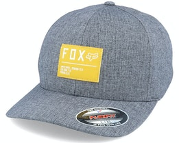 Non Stop Heather Black/Yellow Flexfit - Fox