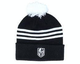 Vegas Golden Knights 3-Stripe Cuffed Black Pom - Adidas