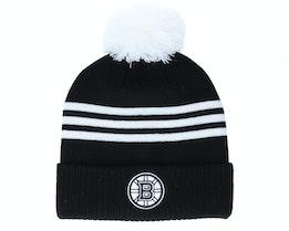 Boston Bruins 3-Stripe Cuffed Black Pom - Adidas