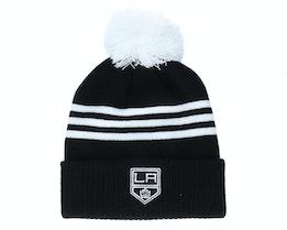 Los Angeles Kings 3-Stripe Cuffed Black Pom - Adidas