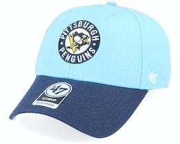 Pittsburgh Penguins Two Tone Mvp Columbus Blue/Navy Adjustable - 47 Brand