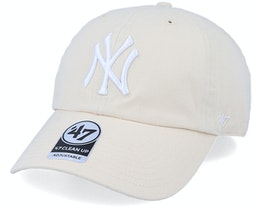 New York Yankees Clean Up Natural/White Adjustable - 47 Brand